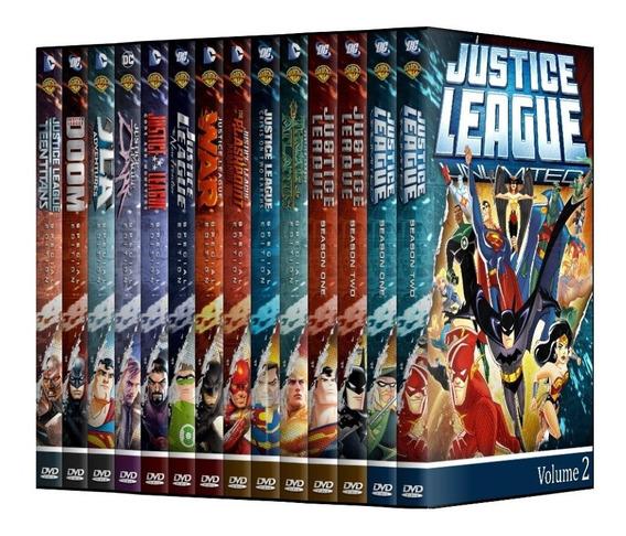 Liga Da Justiça E Sem Limites + Filmes Em Dvd