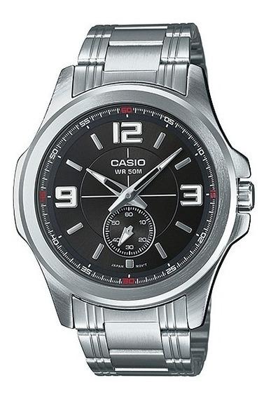 Relogio Casio Mtp E112d-1a Clássico Elegante Masculino Analógico Wr50m Caixa De Aço Original Nf Pronta Entrega Mtpe112