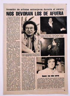 Una Pagina Nota Camilo Sesto Dyango N. Di Bari Clipping 1980