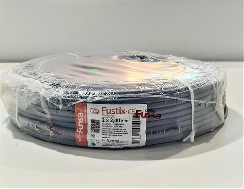 Cable Super Plastico 2x2 Rollo De 100 Metros