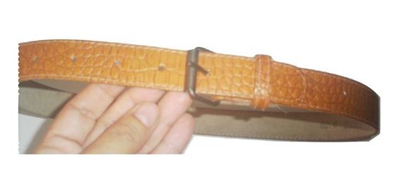 Cinturon Piel Sintetica Cocodrilo Seminuevo Talla 26 $239a