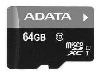 Memoria Micro Sd Adata Uhs-i U1-64 Gb-30 Mb-s-10 Mb-s-negro