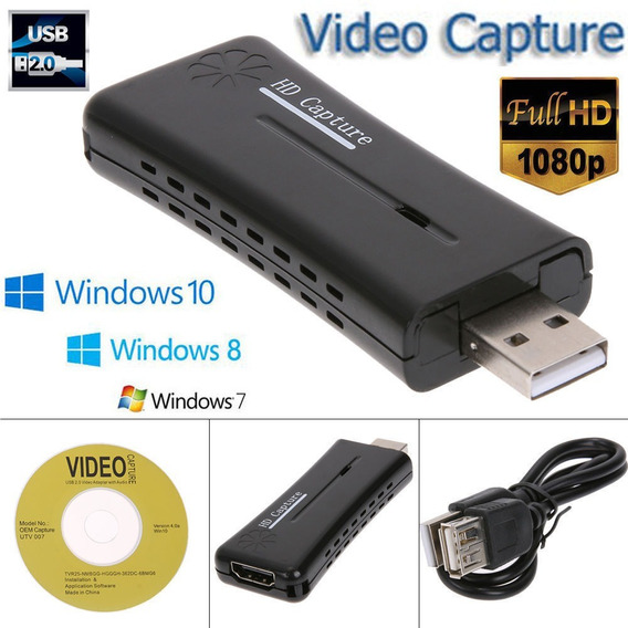 Capturador Video Hdmi A Usb Laptop Pc Graba En Vivo 720x480