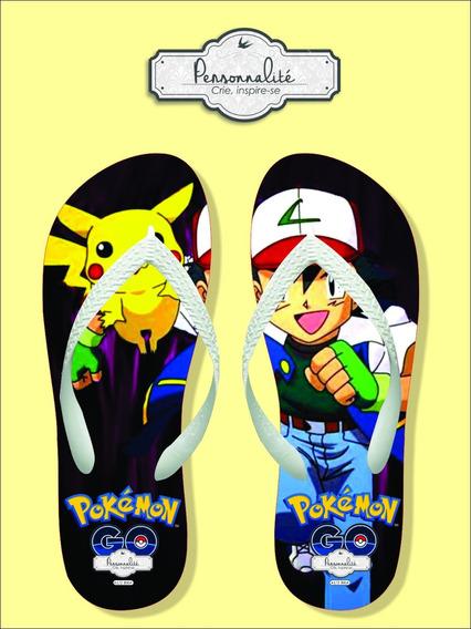 Chinelo Pikachu E Ash Pokemon Go