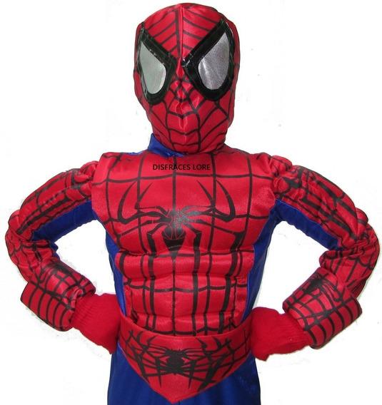 Disfraz Spiderman Hombre Araña Disfraces Para Niño De Lujo