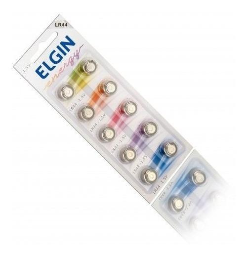10un Elgin Bateria Lr44 Pilha Alcalina Promoção Apenas Hoje
