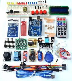 Kit Arduino Uno R3 Completo Eletrônica Rfid Display C/ Caixa