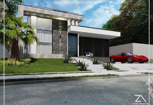 Imagem 1 de 27 de Casa Em Condomínio Fechado, Atibaia Shamballa Iii - Ca01077 - 68758975