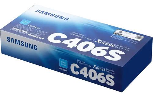 Cartucho De Tóner Samsung Clt-c406s Cian