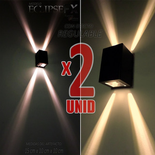 Aplique Difusor Pared Exterior 2 Unidades C/ Led Incluido 6w