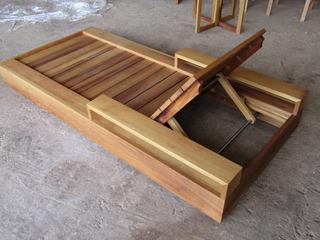 Camastro Exterior Fina Madera Solida Teka Importada 1.00x195