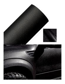 Adesivo Envelopamento Krusher Preto Rugoso Moto E Carro 1,38