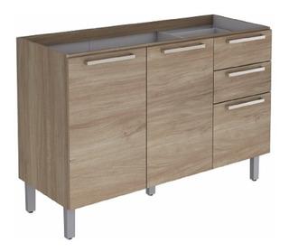 Mueble Repostero En Melamina Incluye Lavaplatos En Acero