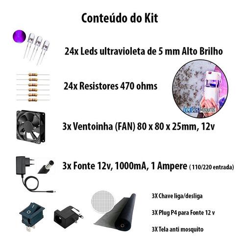 3 X Kit Armadilha Pernilongo Tipo Manual Do Mundo Pega Muito