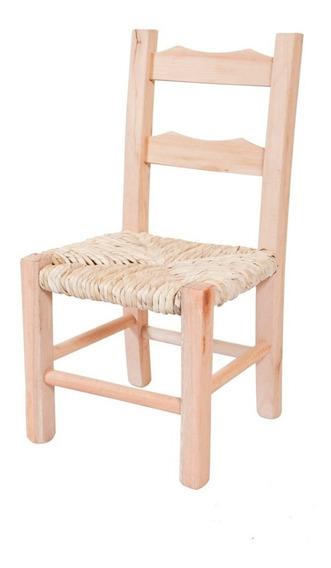 Cadeira De Palha Infantil Kit Com 4 Peças
