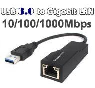 Cable Adaptador Usb 3.0 A Lan Rj45 Tarjeta D Red 10/100/1000