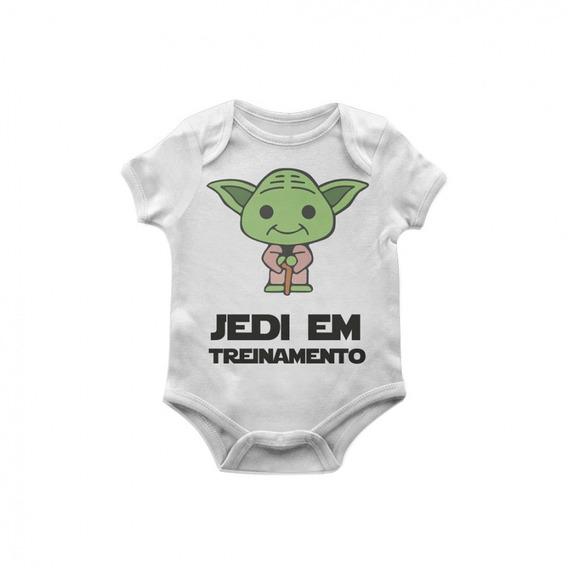 Body Bebê Star Wars Yoda Jedi Em Treinamento Tam M Artgeek