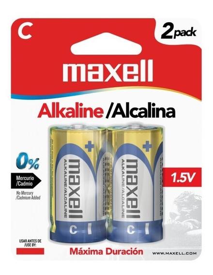 Pila Bateria Alcalina Tipo C Maxell