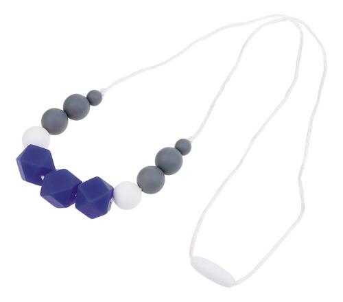 Imagen 1 de 12 de 1pc Baby Silicone Nursing Dentición Masticable Collar De