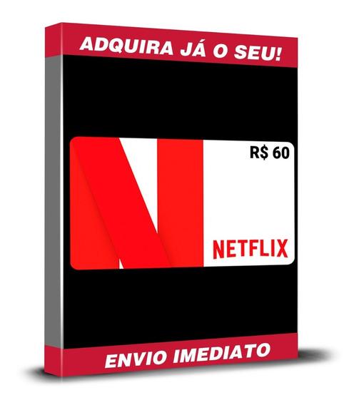 Cartão Pré-pago Presente Netflix R$ 60 (2x R$30) Reais