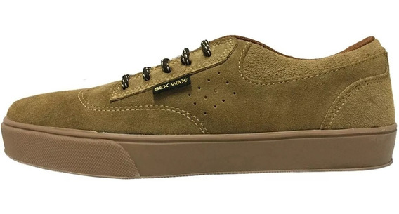 Zapatilla Skate Sex Wax Brooklyn Beige Caramelo - Vulkano