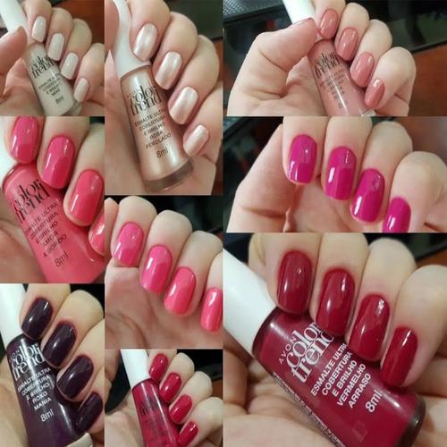 Avon Color Trend 7 Esmaltes + Crema Para Manos