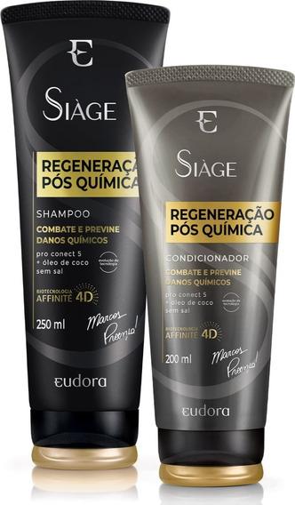 Eudora - Siàge - Regeneração Pós Química - Shampoo/condicion