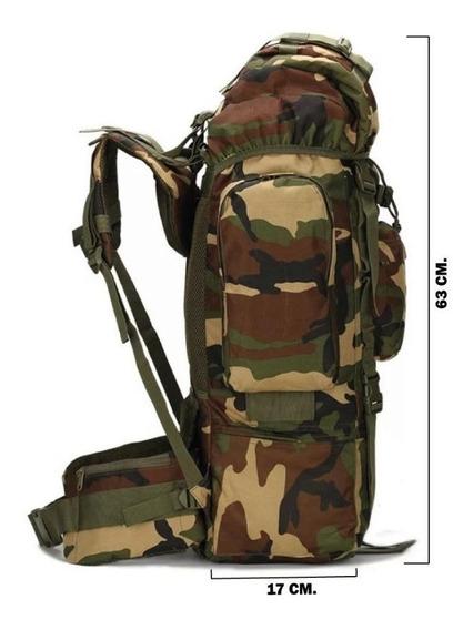 Maleta Mochila Tactico Militar Montaña Camping 80l