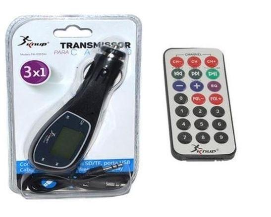 Transmissor Veicular Sem Fio Usb Sd Fm Mp3 Display
