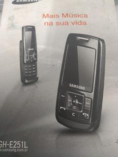 Celular Samsung Sgh - E251l - Usb E Fone - Retirada De Peças