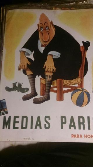 Lámina Publicitaria Medias Paris