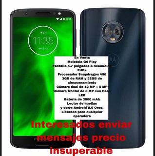 Celular Motorola G6 Liberado En Óptimas Condiciones