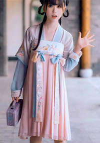 Hanfu Talla M Ropa Tradicional China Falda En El Pecho
