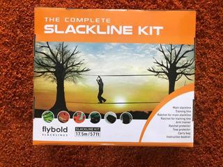 Linea Slackline Flybold De 17.5 Metros, Kit Completo