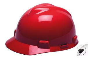 Casco Seguridad Tipo Cachucha Vgard Rojo C/portalámpara Msa