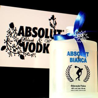 45 Lembrancas Com Acessorios - Drinks Tipo Absolut Vodka V08