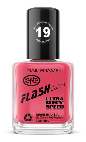 Imagen 1 de 4 de Esmalte Flash Colors De Gnp 15ml Nro.19