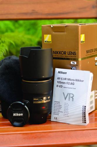 Lente Nikon 105mm F/2.8g Ed-if Af-s Vr