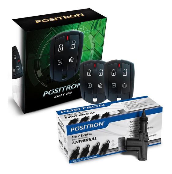 Alarma Auto Positron Ex360 + Cierre Centralizado 4 Puertas