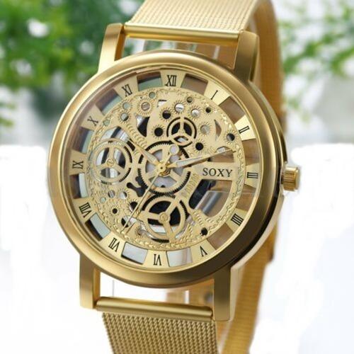 A1) Relógio De Pulso Esqueleto Soxy Analógico Promoção Oferta