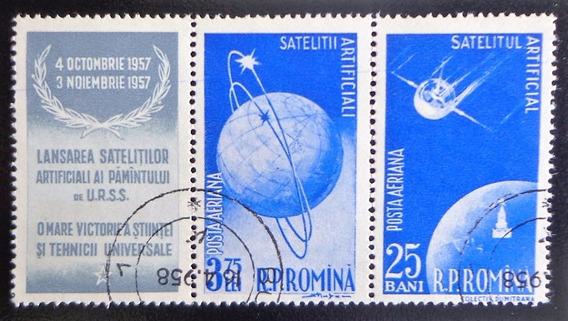 Rumania Espacio, Sello Sc. C51a Entrec. 1957 Usado L10086