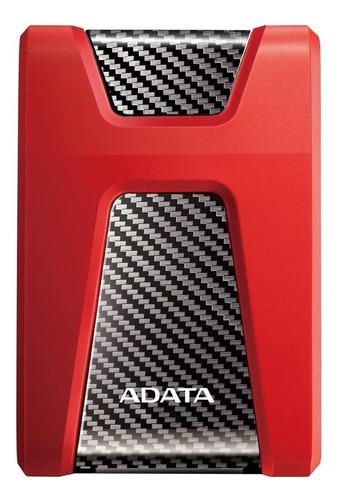 Imagen 1 de 3 de Disco duro externo Adata DashDrive Durable HD650 AHD650-2TU31 2TB rojo