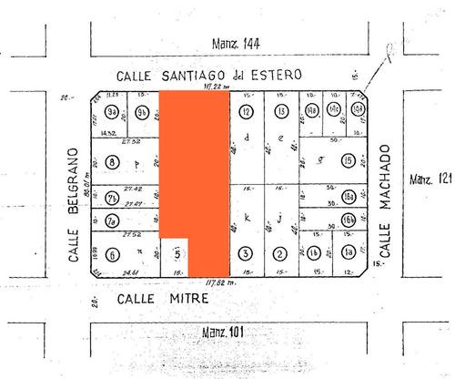 Lote Centro De Manzana Salida A Dos Calles 2280m2 En Block
