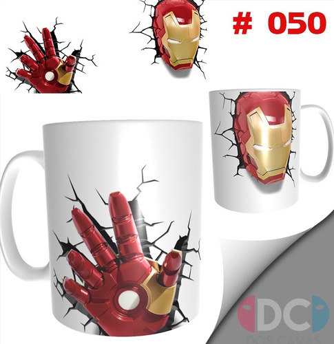 Taza De Comics Coleccionable Iron Man  #050