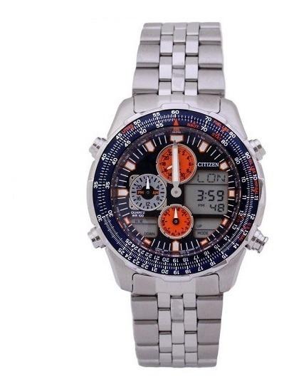 Relógio Citizen Masculino Prata Promaster Anadigi Tz10173f