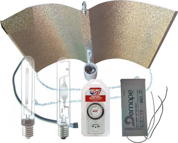 Kit Iluminação Indoor V&f Wing Plus Demape 250w + Timer