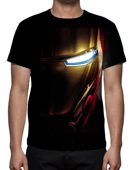 Camisa, Homem De Ferro Face - Estampa Total