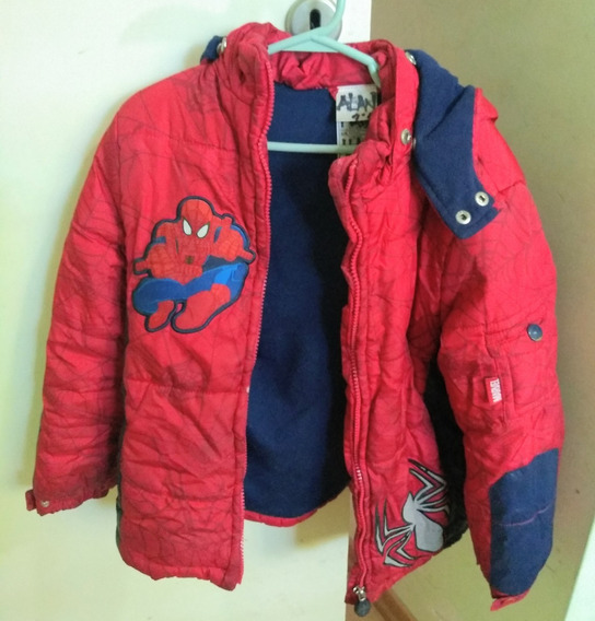 Campera Niño Frizada Spiderman De Marvel Original Capucha
