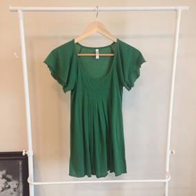 Camiseta Fluida Cuello Redondo Color Verde Xhilaration