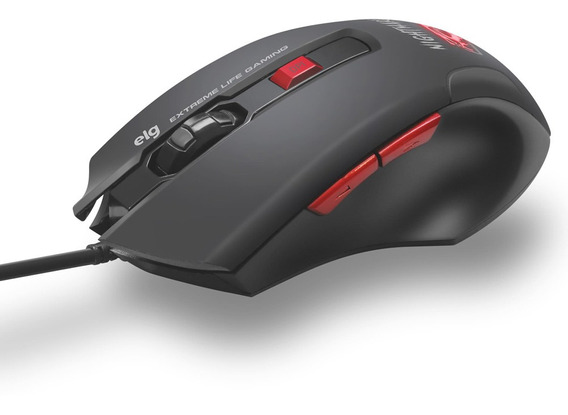Mouse Gamer Nightmare Led 6 Botões Elg 4.000 Dpi - Mgnm